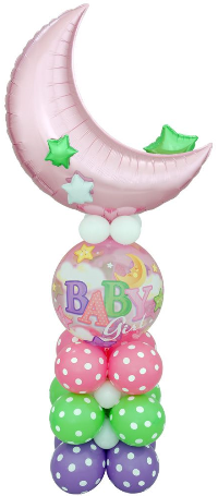 Its a Girl Baby Balloon Centrepiece