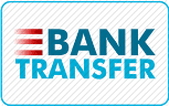 We accept bank transfers/deposits